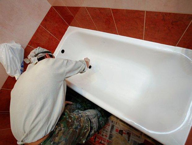 Ремонт акриловой ванны своими руками 62